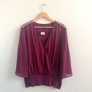 Thalia Sodi Rhinestone Embellished Shoulder Blouse